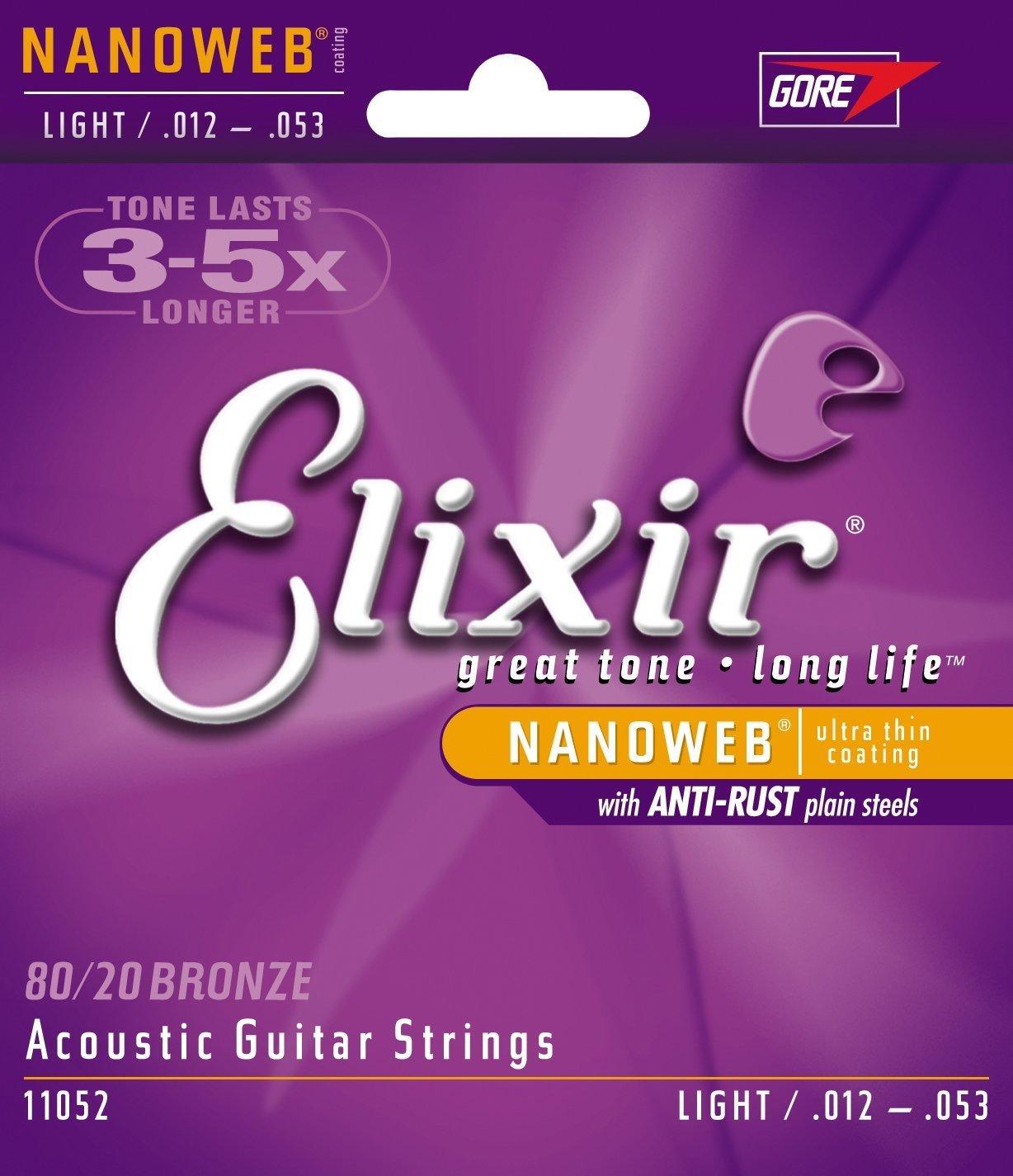 Elixir Strings 80-20 Bronze Acoustic Guitar Strings