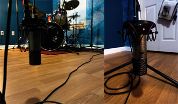Room mic placed straight out from the kit. Mic is Aston Spirit.