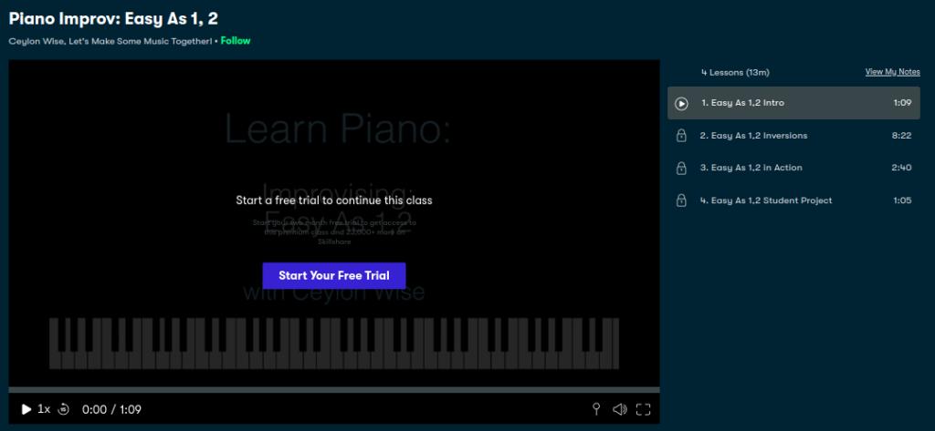 Piano Improv: Easy as 1, 2