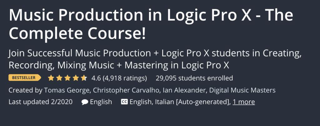 Logic Pro X Quick Start: Producing with Logic Pro X by Udemy