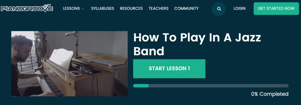 How to Play In a Jazz Band by Piano Groove