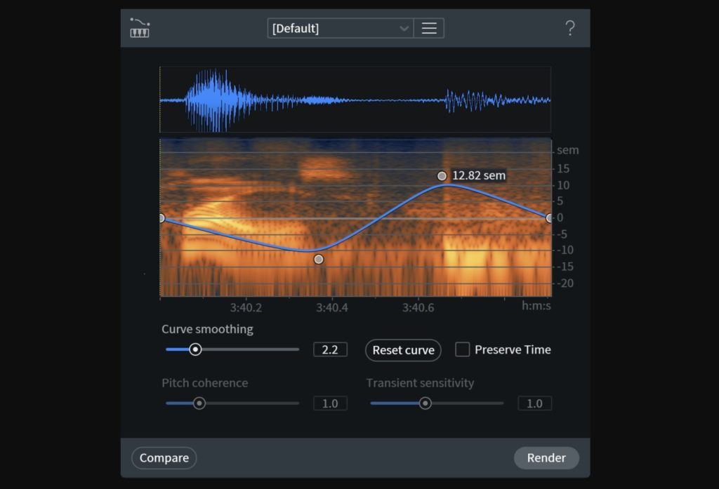 iZotope RX8 Variable Pitch