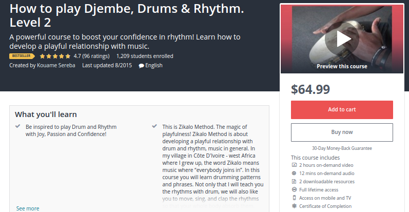 How to Play Djembe, Drums and Rhythm - Level 2