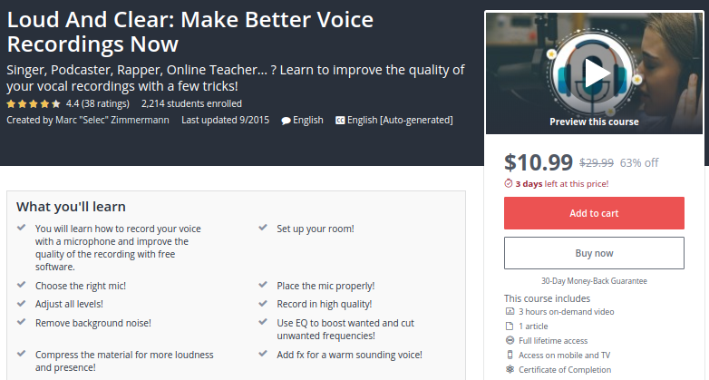 Loud and Clear: Make Better Voice Recordings Now