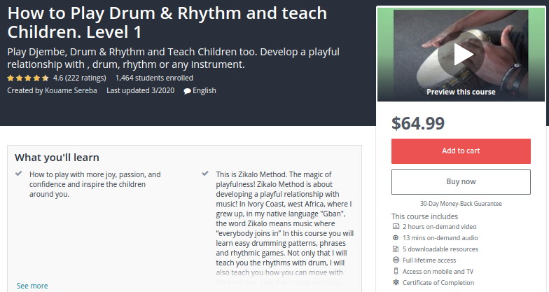How to Play Drum and Rhythm and Teach Children - Level 1