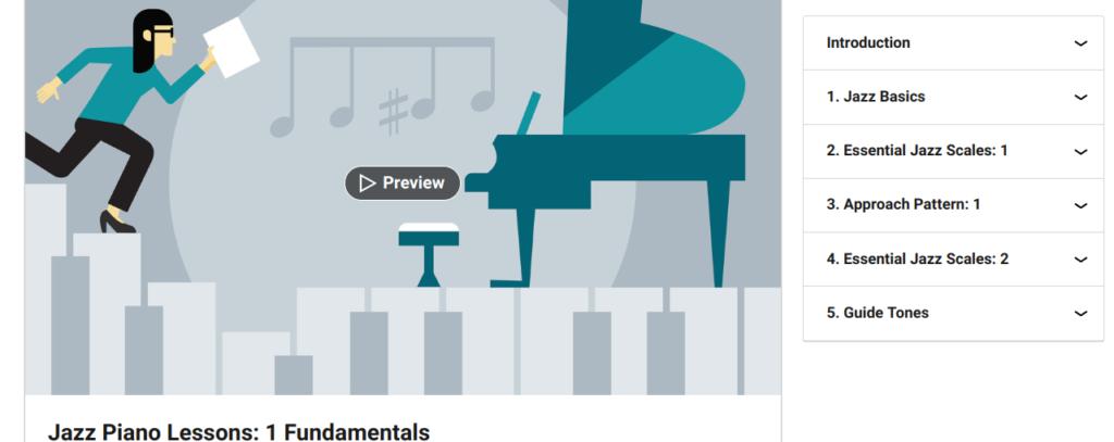 Jazz Piano Lessons 1: Fundamentals