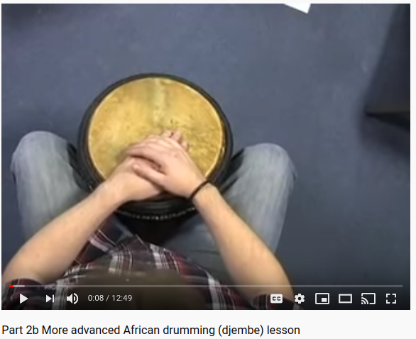 More Advanced African Drumming (Djembe) Lesson by Jason Horsler Part 2a & 2b