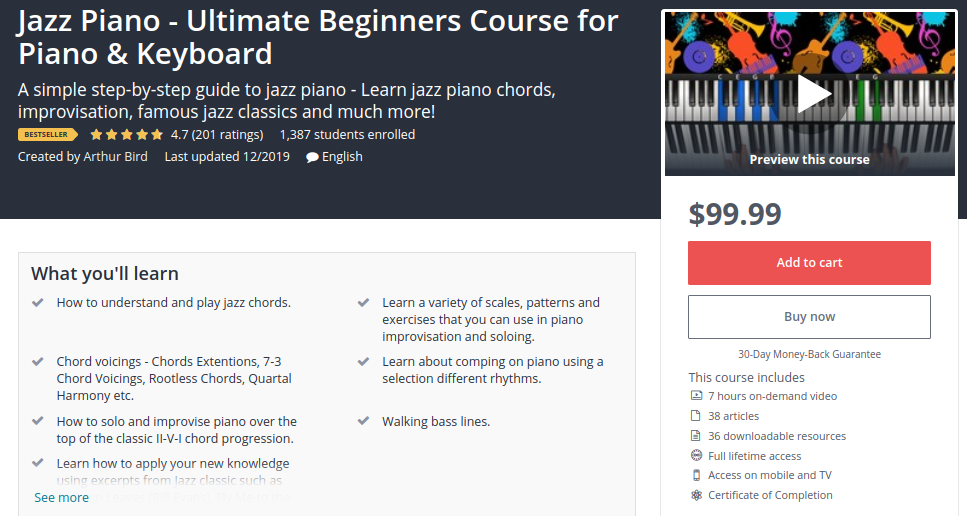 Jazz Piano - Ultimate Beginners Course for Piano and Keyboard