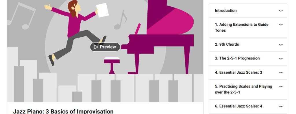 Jazz Piano Lessons 3: Basics of Improvisation