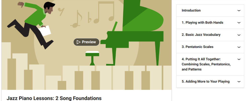 Jazz Piano Lessons 2: Song Foundations