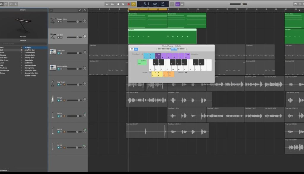 GarageBand on a Macbook iOS