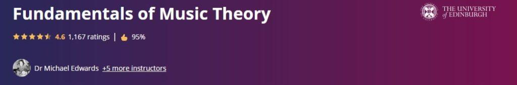 Fundamentals of Music Theory - University of Edinburgh