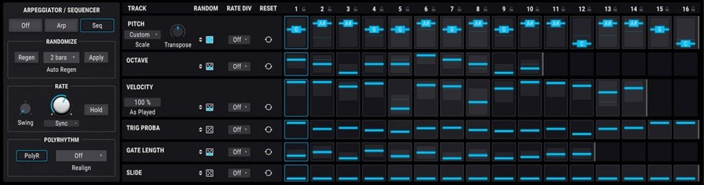 Sequencer Page