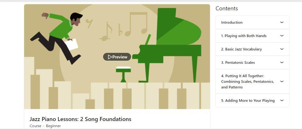 Jazz Piano Lessons 2 - Song Foundations  by LinkedIn Learning (Formerly Lynda.com)