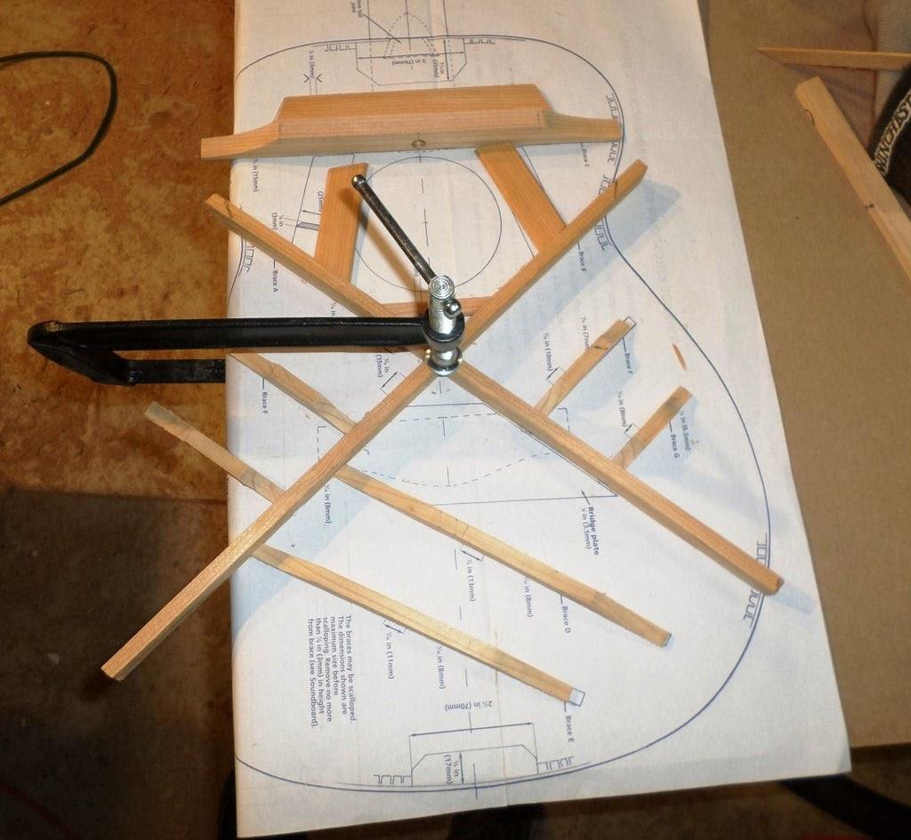 guitar bracing template