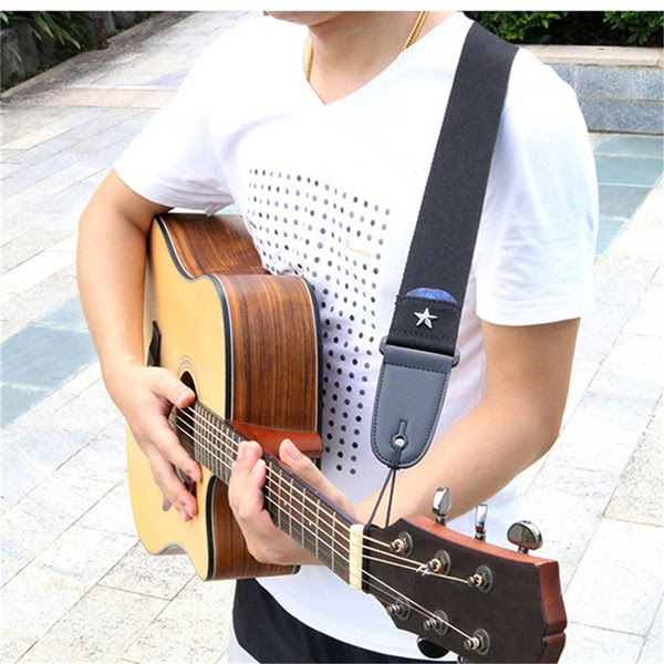 attach a guitar strap without buttons