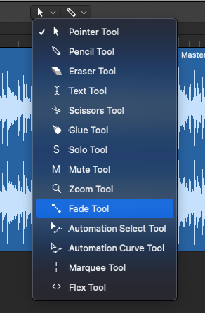 Fade Out Via Fade Tool