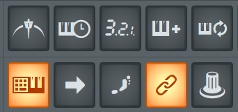 fl studio recording and editing buttons