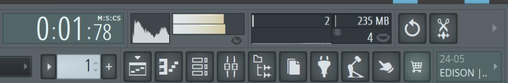 fl studio window buttons