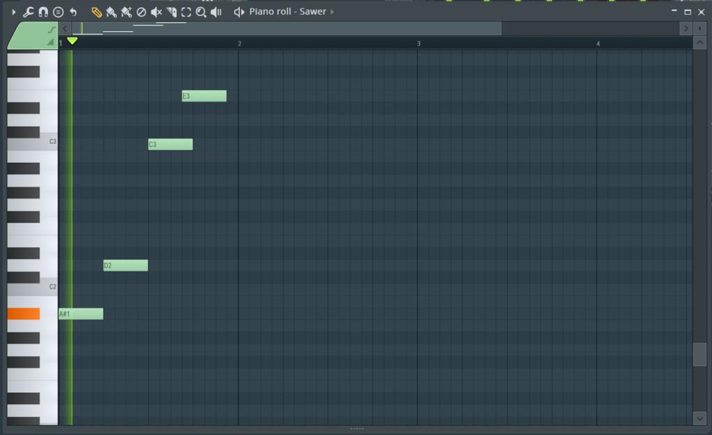fl studio piano roll