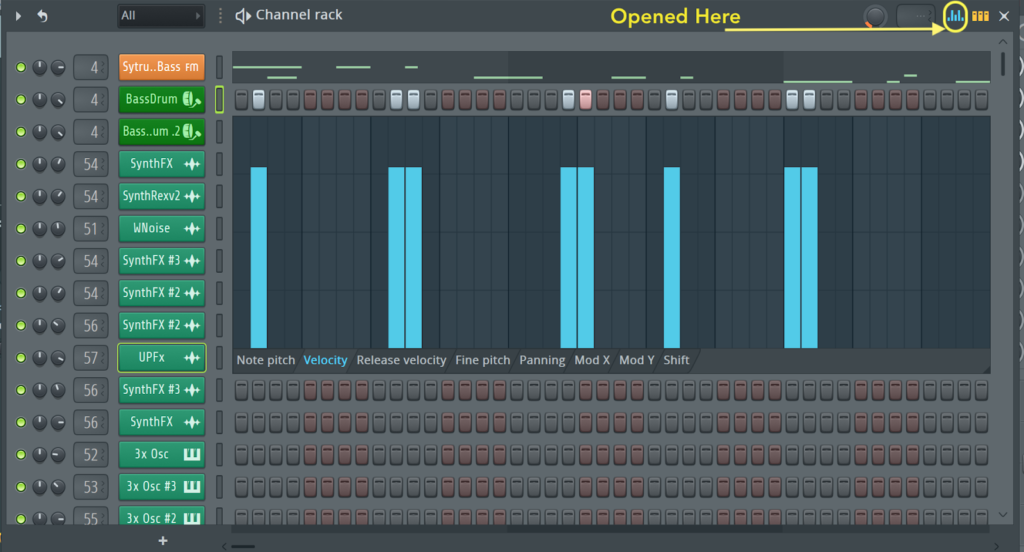 fl studio channel parameter editor