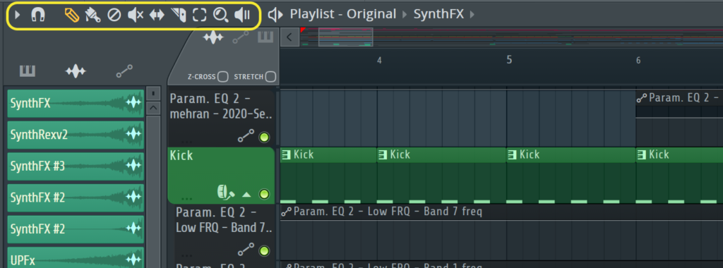 fl studio editing icons