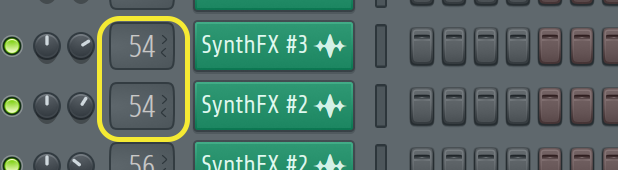 sending sounds to mixer channel