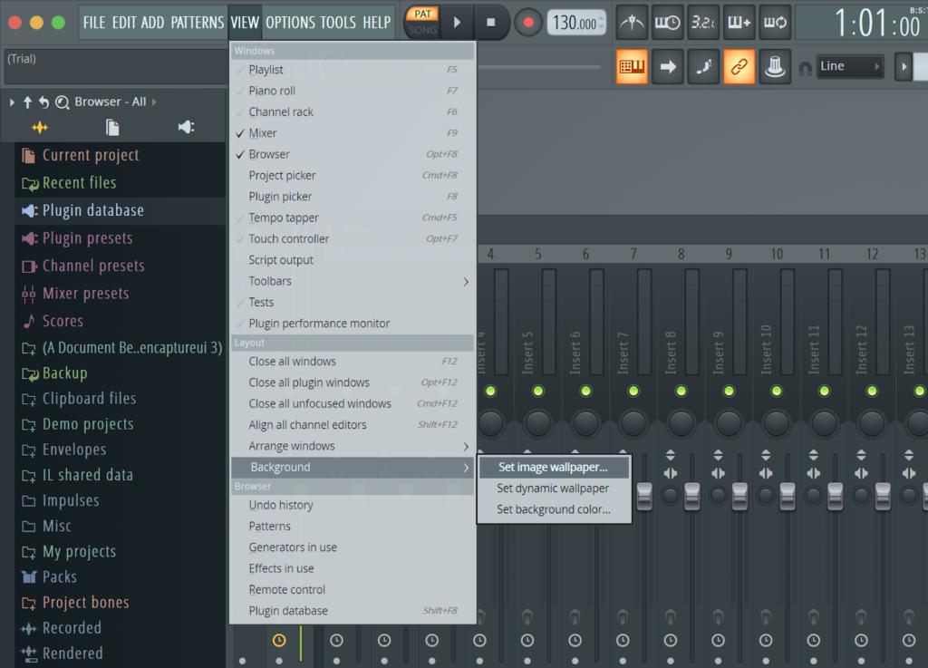 Change the Background in FL Studio
