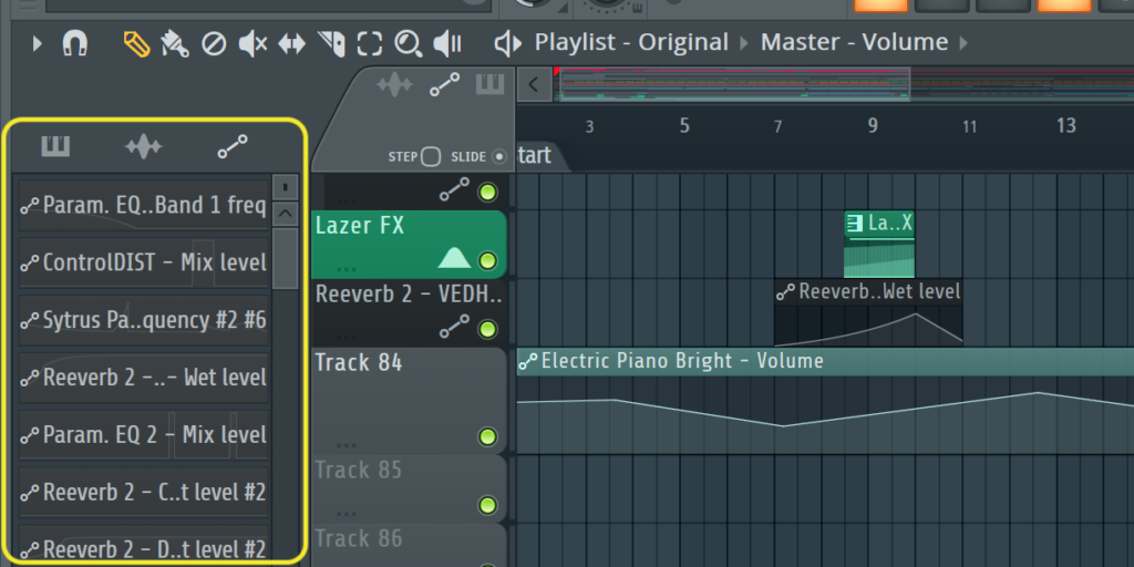 FL Studio Automation Clip Playlist Operations