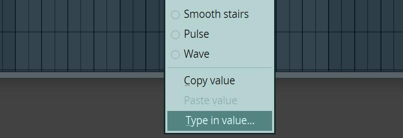 Setting Point Values in fl studio